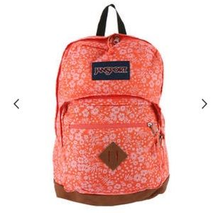 JanSport City View Coral Floral Backpack